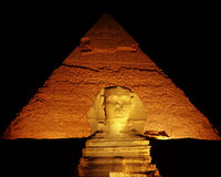Noite disparada do Sphinx Imagens de Stock Royalty Free