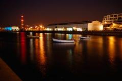 Noite disparada no porto Fotografia de Stock Royalty Free