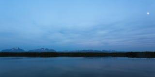 Noite do Alasca quieta Fotografia de Stock Royalty Free