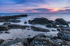 Noite do beira-mar em Tailândia Foto de Stock