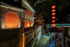 Noite do cais da cidade antiga Foto de Stock