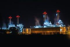 Noite do central elétrica Foto de Stock