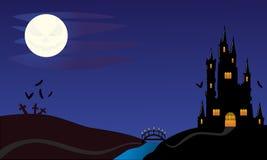 Noite de Dia das Bruxas imagem de stock royalty free