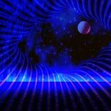 Noite do espaço ilustração do vetor