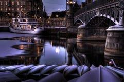 Noite do inverno. Foto de Stock Royalty Free