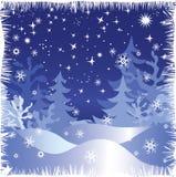Noite do inverno Fotografia de Stock Royalty Free