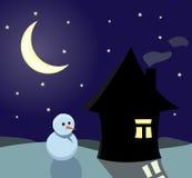 Noite do inverno Imagem de Stock Royalty Free