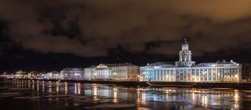Noite do inverno de St Petersburg Foto de Stock