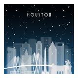 Noite do inverno em Houston ilustração royalty free