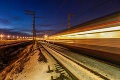 Noite do inverno em St Petersburg no envelhecimento Imagens de Stock