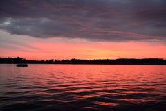 Noite do lago Fotografia de Stock