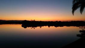 Noite do lago Imagem de Stock