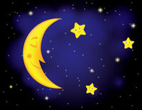 Noite do luar ilustração royalty free