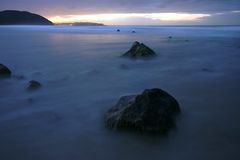 Noite do mar Foto de Stock Royalty Free