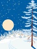 Noite do Natal Imagens de Stock Royalty Free