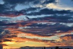 Noite do por do sol foto de stock royalty free