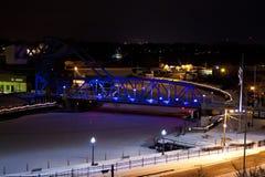 Noite do porto Fotos de Stock Royalty Free