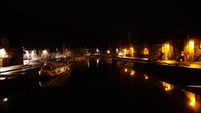 Noite do rio de Dinon Foto de Stock Royalty Free