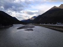 Noite do rio de Skagway Imagens de Stock Royalty Free