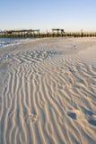 Noite do sem-fim na praia do inverno Fotografia de Stock