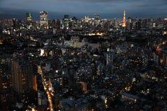 Noite do Tóquio Fotografia de Stock Royalty Free