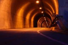 Noite do túnel Imagens de Stock