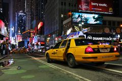 Noite do Times Square Fotografia de Stock Royalty Free