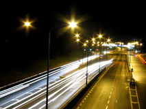 Noite do tráfego fotos de stock