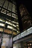 Noite dos edifícios da cidade Fotografia de Stock Royalty Free