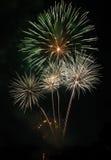 Noite dos fogos-de-artifício Imagem de Stock Royalty Free