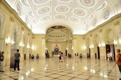 Noite dos museus em Bucareste - Museu Nacional de arte de Roménia imagens de stock royalty free
