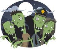 Noite dos zombis Imagem de Stock