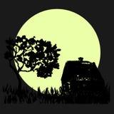 Noite e aumentação da lua Foto de Stock Royalty Free