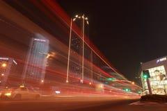 Noite e cor da cidade Foto de Stock Royalty Free