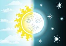 Noite e dia Imagem de Stock Royalty Free