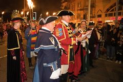 Noite e parada da fogueira de Hastings 15 de outubro de 2017 Imagem de Stock Royalty Free