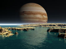 Noite e planeta Fotografia de Stock