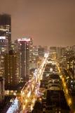 Noite elevada da skyline Foto de Stock