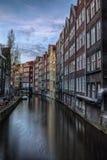 Noite em Amsterdão Fotografia de Stock