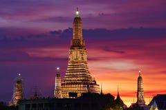 Noite em Banguecoque fotografia de stock