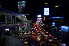 A noite em Banguecoque de Tailândia Fotos de Stock Royalty Free