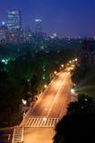 Noite em Boston foto de stock royalty free