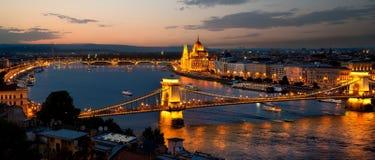 Noite em Budapest Fotos de Stock