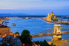 Noite em Budapest Foto de Stock Royalty Free
