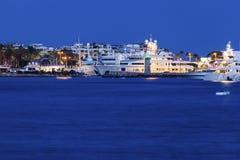 Noite em Cannes Foto de Stock Royalty Free