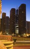 Noite em Chicago Fotografia de Stock