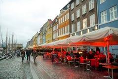Noite em Copenhaga imagem de stock royalty free