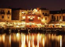 Noite em Crete Imagem de Stock Royalty Free