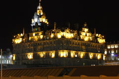 Noite em Edimburgo Fotografia de Stock Royalty Free
