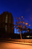 Noite em Famagusta, Chipre imagem de stock